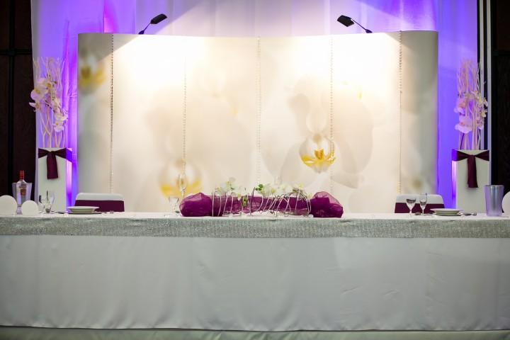 Brauttisch orchideen mit swarovski kristallen komplett for Verleih und dekoration