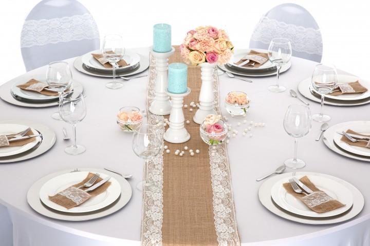 Tischl ufer vintage lein mix tischl ufer tischdeko for Verleih und dekoration